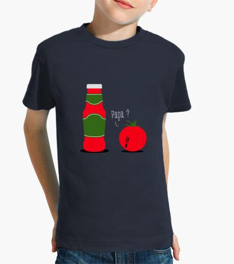 Ropa infantil salsa de tomate