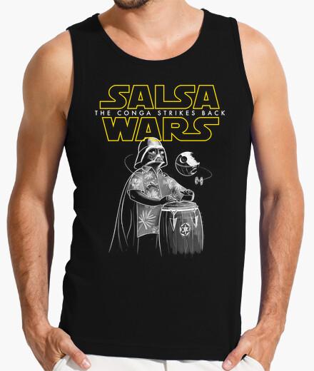 Camiseta Salsa Wars. The conga strikes back