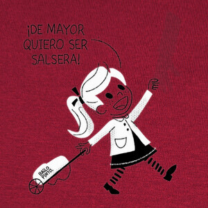 salsera niña fondo color T-shirts