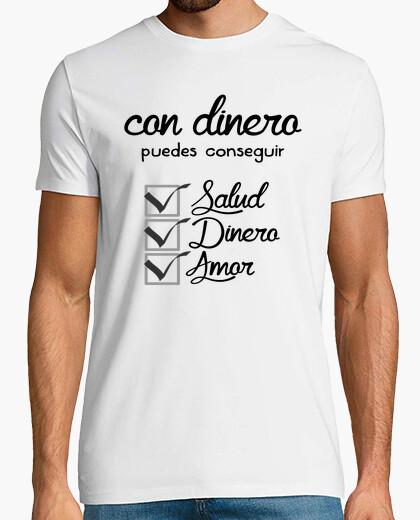Camiseta salud, dinero y amor
