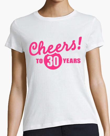 T-shirt saluti a 30 anni di compleanno