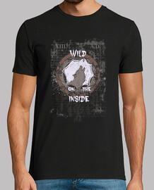 Salvaje en el interior camiseta Lobo en atrapa sueños Grunge