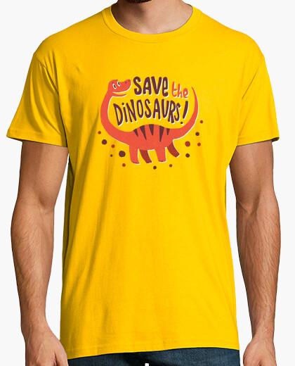 Camiseta salvar a los dinosaurios