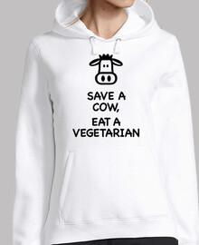 salvar a una vaca comer un vegetariano