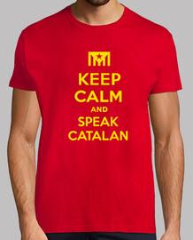Samarreta Keep Calm and Speak Catalan 2