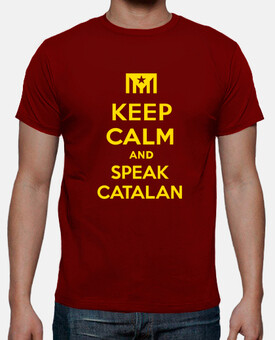 Samarreta Keep Calm and Speak Catalan 2