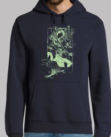 samouraï et carpe verte