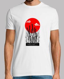 samouraïs bushido katanas minimaliste shirt esthétique champ de bataille japonais