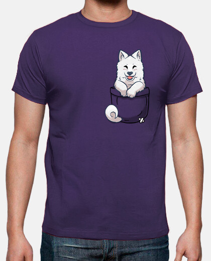 samoyed de poche - chemise pour hommes