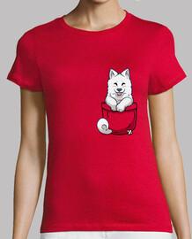 samoyedo del bolsillo - camisa de la mujer