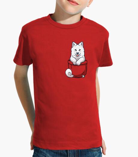 Ropa infantil samoyedo del bolsillo - camisa de los niños