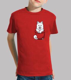samoyedo del bolsillo - camisa de los niños