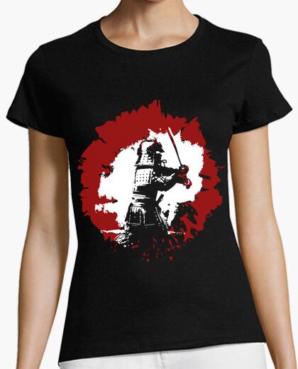 Tee-shirt samurai / b and était japonais