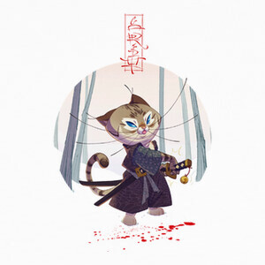 Samurai Cat T-shirts