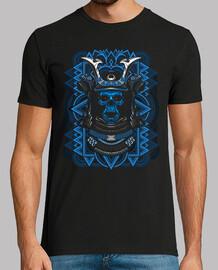 samurai crâne bleu
