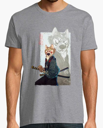 Samurai dog. akita t-shirt