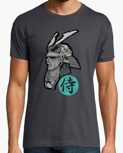 Tee-shirt samurai man t-shirt grey