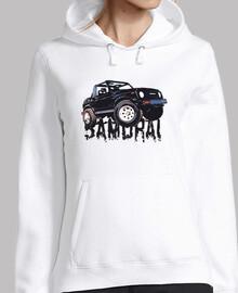 samurai sudadera chica