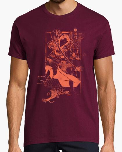 Camiseta Samurai y Carpa