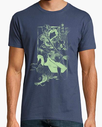 Camiseta Samurai y Carpa Green