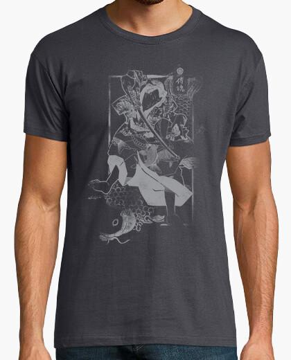 Camiseta Samurai y Carpa Grey
