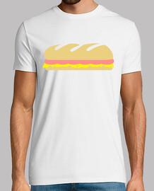 sandwich de baguette de jamón y queso
