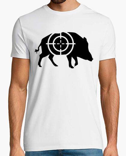 Tee-shirt sanglier réticule chasseur