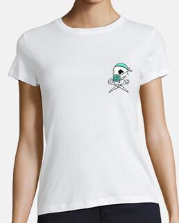 SANIDAD PÚBLICA  Mujer, manga corta, blanca, algodón orgánico