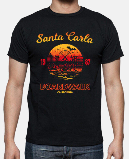 santa carla boardwalk mens t-shirt