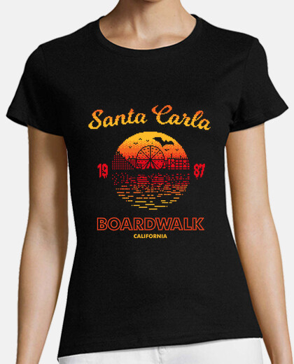 santa carla boardwalk womens t-shirt
