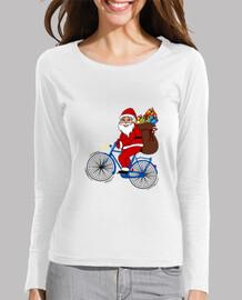 Santa Claus en bicicleta