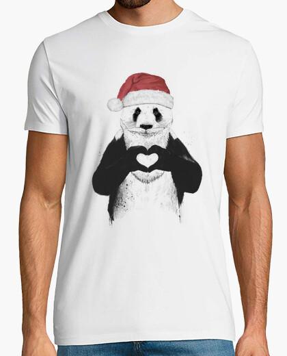 Camiseta Santa panda