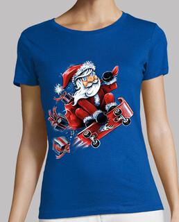 Santa skateboard fahren