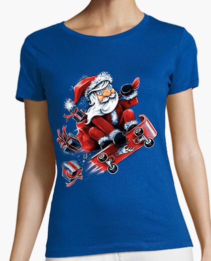 Tee-shirt Santa Skateboarding