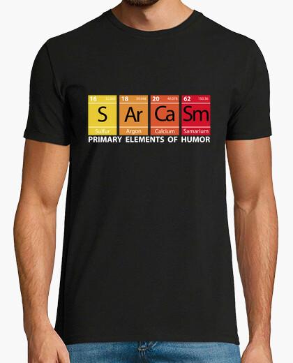 Tee-shirt Sarcasme nous  lettres  blanc (pour cam