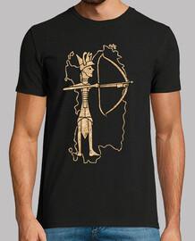 sardaigne bronze archer liège de couleur