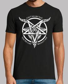 satan baphomet pentagramme inversé blanc