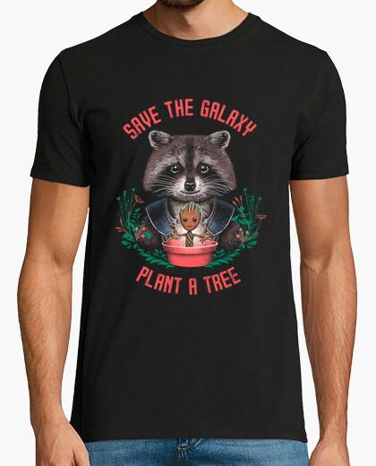 Tee-shirt sauver les hommes galaxie de chemise