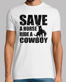 sauver un cheval à un cow-boy