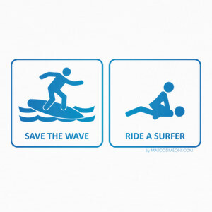 T-shirt SAVE THE WAVE