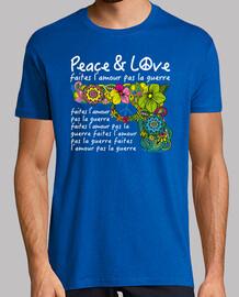 c8f056b69622e T-shirt PEACE AND LOVE . Tee-shirts homme les plus vendus   Tostadora.fr