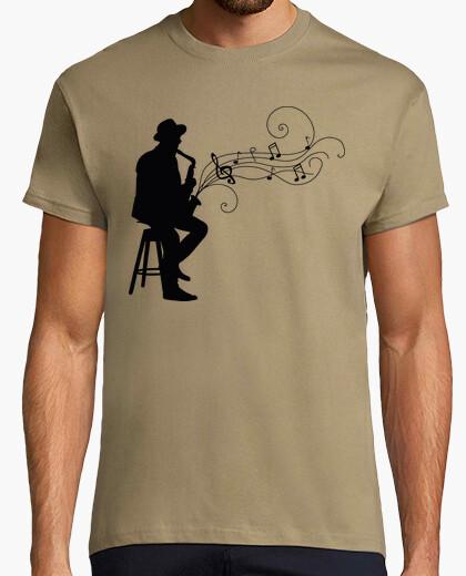 T-shirt sax jazz