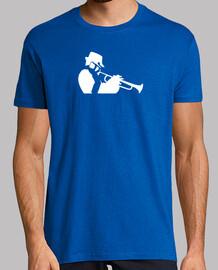 saxofón de jazz y los músicos de trompeta