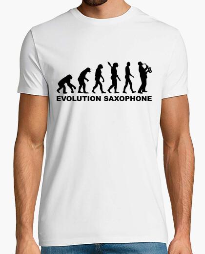 Camiseta saxofón evolución