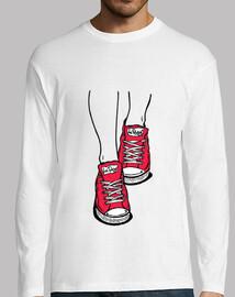 scarpe da ginnastica rosse