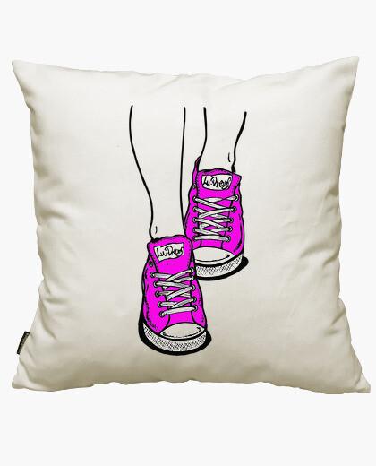 Fodera cuscino scarpe rosa