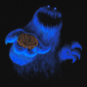 Tee-shirts Scary cookie monster - Halloween