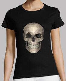 schädel - tee shirt frau, schwarz, beste qualität