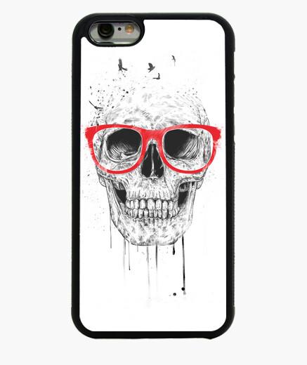 iPhone 6 und iPhone 6S Hülle schädel mit roten gläsern