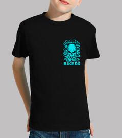 Schädel Tintenfisch shirt Pilz schwarz